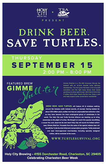 Drink Beer. Save Turtles. 2016 Event Poster