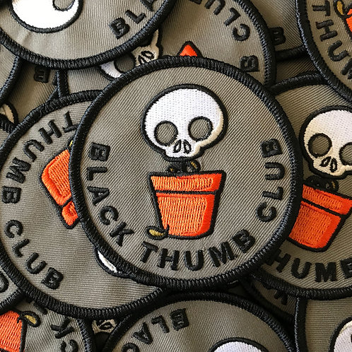 Black Thumb Club Iron-on Patch