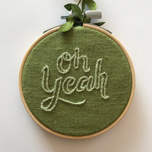 Oh Yeah Embroidered Ornament