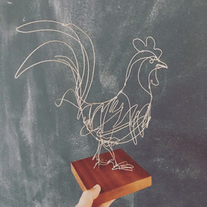 wire taxidermy rooster