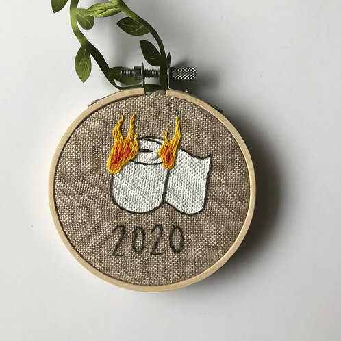 Burning TP 2020 Holiday Ornament - 1