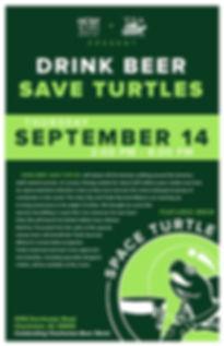 Drink Beer. Save Turtles. 2017 Event Poster.