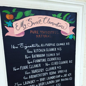 My Sweet Clemetine Market Sign