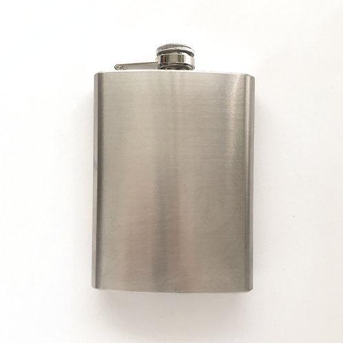 Custom Hand Painted 8 oz. Flask - Polished Nickel