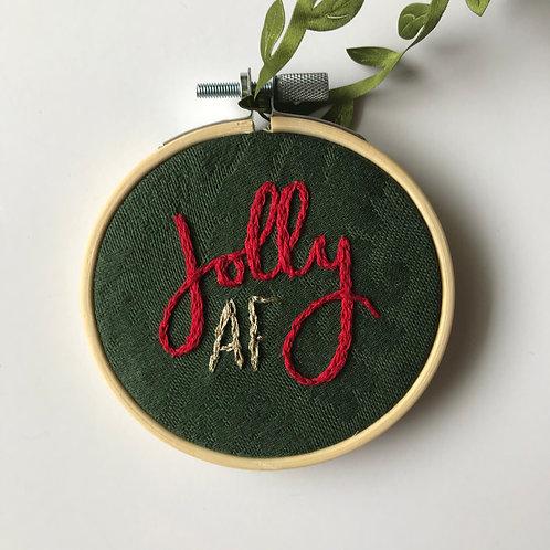 Jolly AF Holiday Ornament
