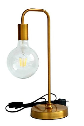 מנורה שולחנית זהב