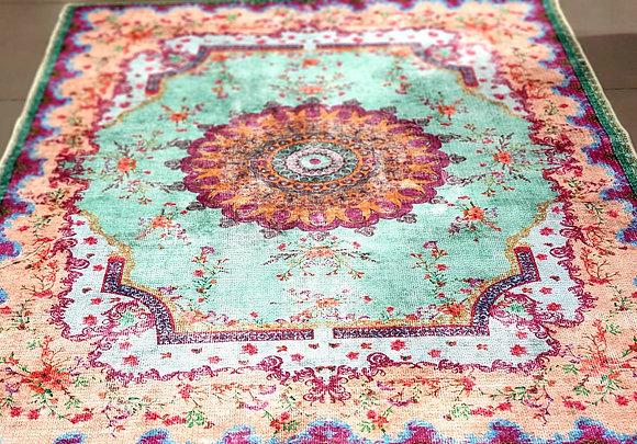 שטיח רוזמרין טורקיז פרח גדול