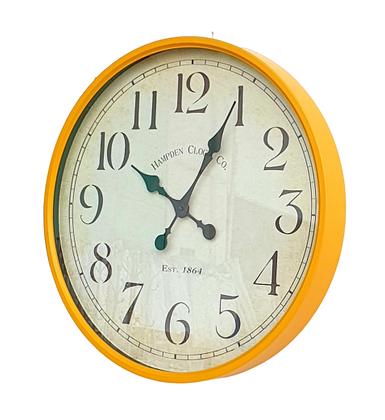 """שעונים מעוצבים שעון קלאסי לרכישה אונליין שעון 50 ס""""מ שעון חרדל"""