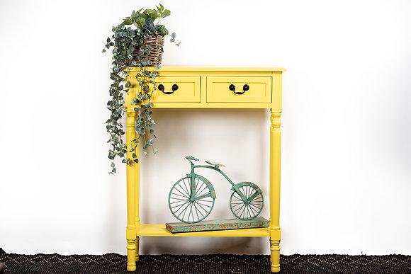 קונסולה צהובה קונסולה עם מגירות חנויות לעיצוב הבית אונליין