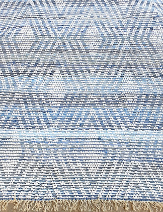 שטיח מרלין שטיח עם צורת מעויינים שטיח עשוי כותנה וג'ינס ממוחזר