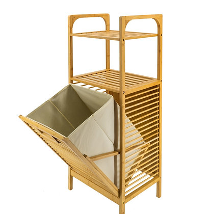 סל כביסה ומדפים, מדפים לאמבטיה, סל כביסה מיוחד, סל כביסה נוח, סל כביסה מעוצב סולם מדפים וסל כביסה