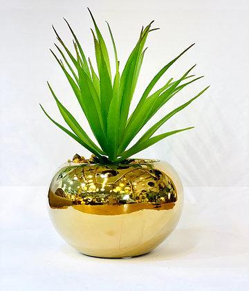 עציץ מלאכותי קטן עציץ זהב עגול קקסוט מלאכותי צמחים אונליין