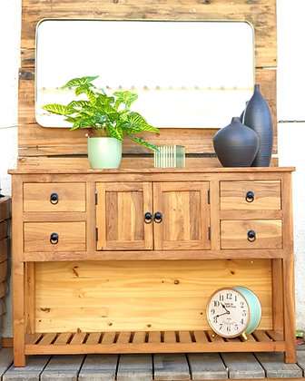 קונסולה מעץ מלא קונסולה עם דלתות קונסולה לרכישה אונליין