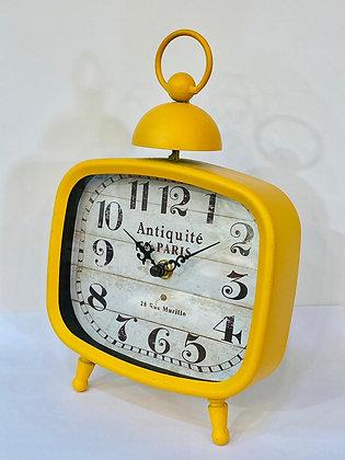 שעון שולחן מרובע שעון צהוב שעון מחוגים שעון וינטג' שעונים אונליין