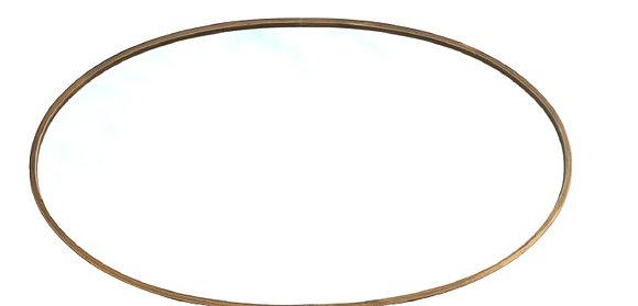 """מראות מעוצבות -מראה אובלית זהב -מראה 70 * 120 ס""""מ -לרכישה אונליין"""