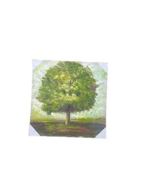 """תמונה עץ ירוק 70 * 70 ס""""מ"""