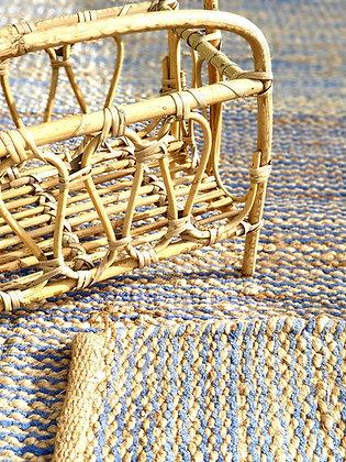 שטיח חבל עם רצועות כחולות לרכישה אונליין coastal