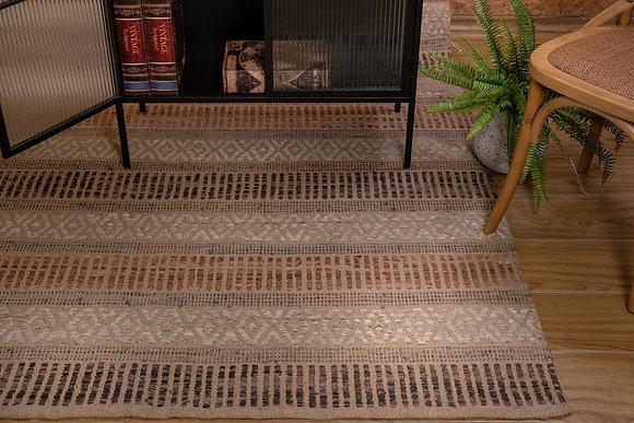 שטיח חבל משולב עור 3