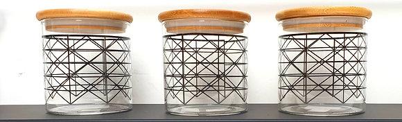 סט צנצנות זכוכית לרכישה אונליין