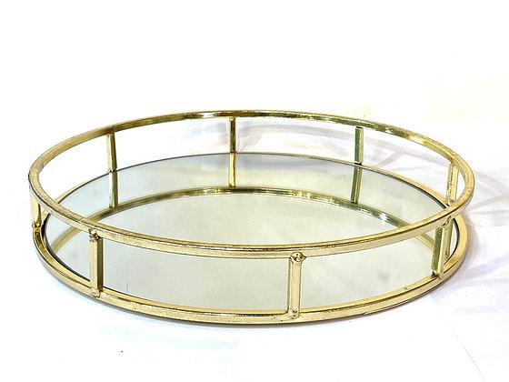 מגש מראה זהב עגול מגש עגול מעוצב מגשים אונליין