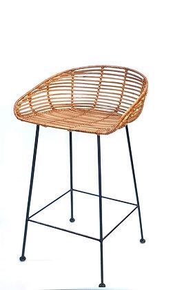 כסא בר ראטן, כסאות למטבח, כסא בר למטבח, כסאות מעוצבים, כסאות קש למטבח
