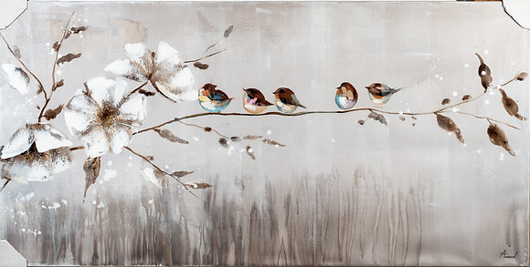 תמונות לבית תמונה ציפורים תמונה פרח לבן תמונות לבית אונליין איכותי