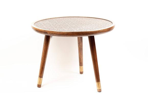 שולחן לסלון שולחן עגול עץ עם זהב שולחן עם עיטורים ריהוט הבית אונליין