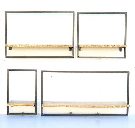 מדפי עץ עם מסגרת מתכת לרכישה אונליין מדפי עץ מנגו עם מסגרת לרכישה אונליין
