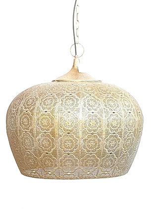 מנורת מתכת לתלייה זהב