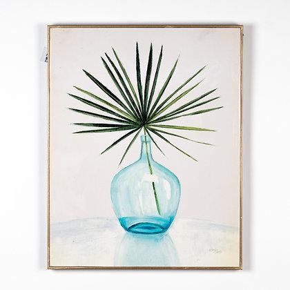 תמונה אגרטל כחול עם צמח