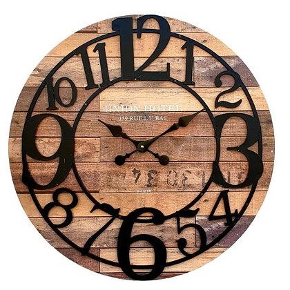 שעון עץ ללא זכוכית