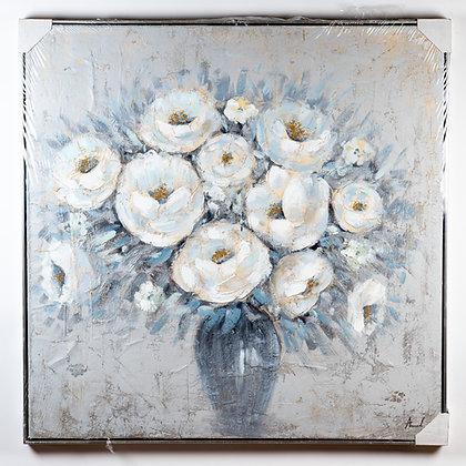 תמונת אגרטל פרחים לבנים