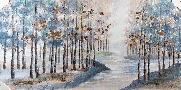 תמונת עצים על נהר