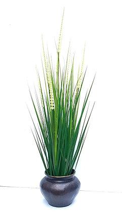 עציץ שיבולים בכלי מושחר לרכישה אונליין רכישת מארזי צמחים צמחים מלאכותיים