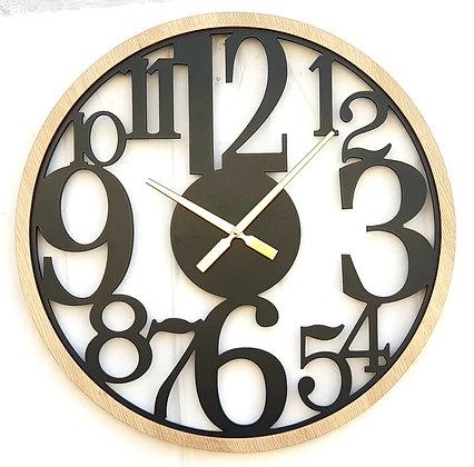 שעון ארט שעון ללא זכוכית שעון מתכת בשילוב עץ שעון לרכישה אונליין
