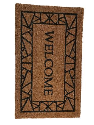 שטיח כניסה welcome גיאומטרי