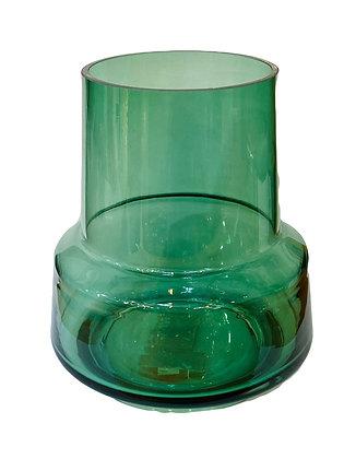אגרטל ירוק שקוף נמוך
