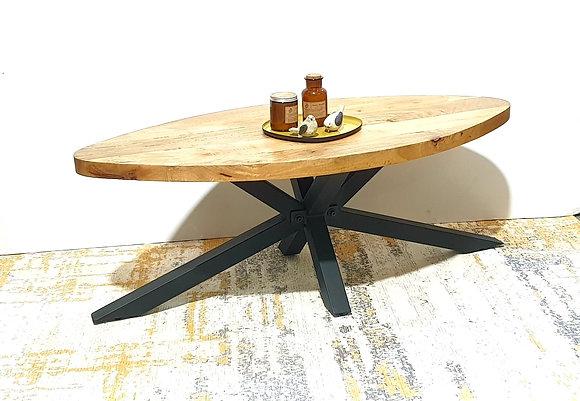שולחן סלון אליפסה שולחן סלון פלטת עץ רגליים מתכת שולחן סלון מיוחד לרכישה אונליין