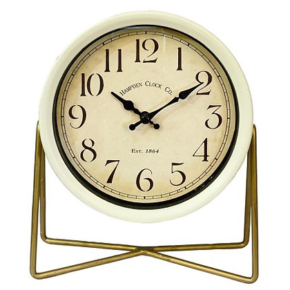 שעון שולחן עגול- שעון שמנת -שעון מחוגים -שעון וינטג' -שעונים אונליין