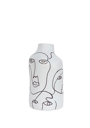 אגרטל מודרני אגרטל שחור לבן אגרטלים לעיצוב הבית אקססוריז לבית לרכישה אונליין דקורציה