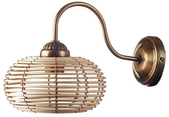 מנורת קיר ראטן מנורות קיר קש