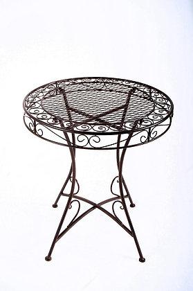שולחן עגול לחצר ברזל שחור