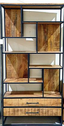סט נישה לסלון מערכת מדפים לסלון כוורת לסלון כוורת בשילוב עץ ומתכת עיצוה הסלון אונליין