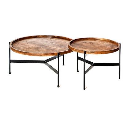 שולחן עגול עץ מלא