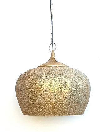 מנורת תלייה מתכת זהב