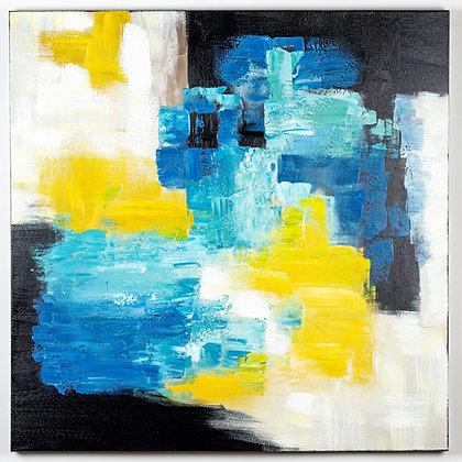כחול צהוב 70 * 70