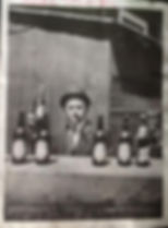 vintage miami beer gangster during prohibition holding a microbrew or moonshine