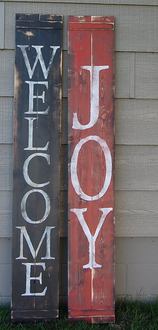 Reversible Welcome/Joy Sign