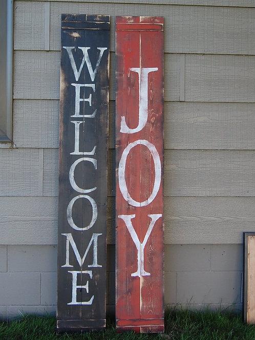 Reversible Welcome/Joy Sign