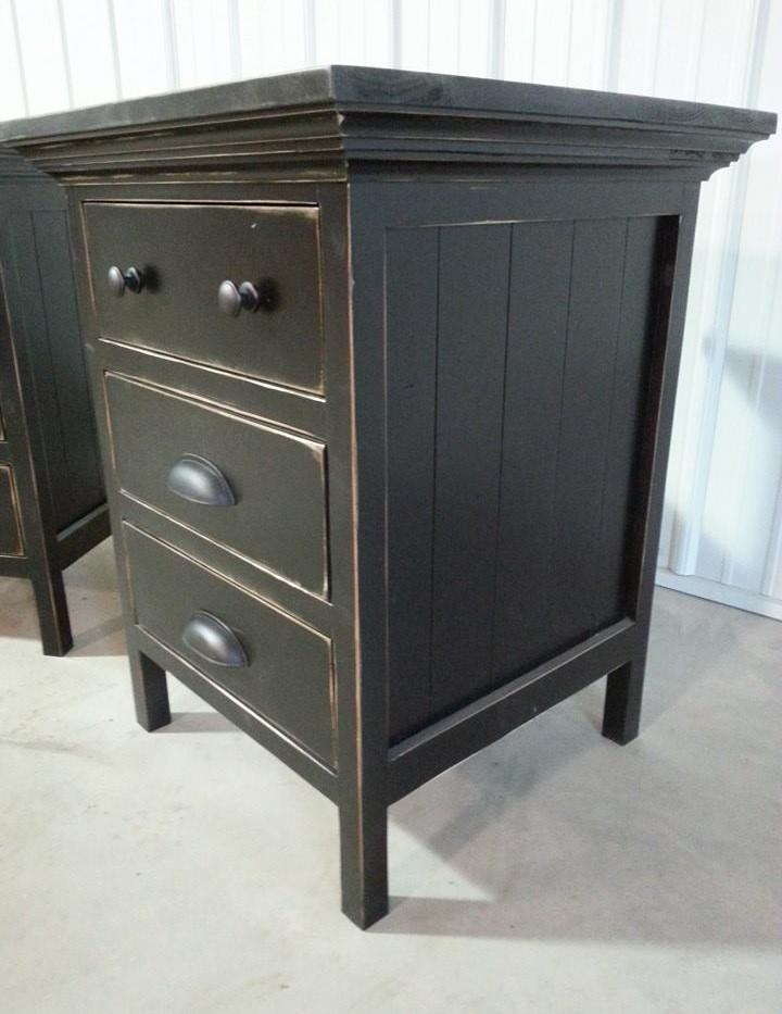 Three Drawer Farmhouse table